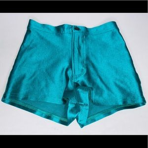 NWOT American Apparel Disco Shorts (Size S) Teal